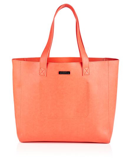 coral Superdry Elaina Tote Bag
