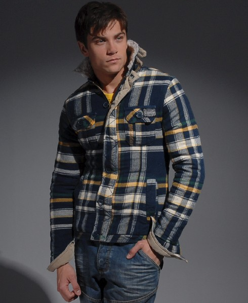 Mens - Sawmill Overshirt jacket in Bandsaw Blue | Superdry