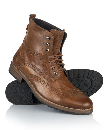 Superdry Jacob Boots Brown