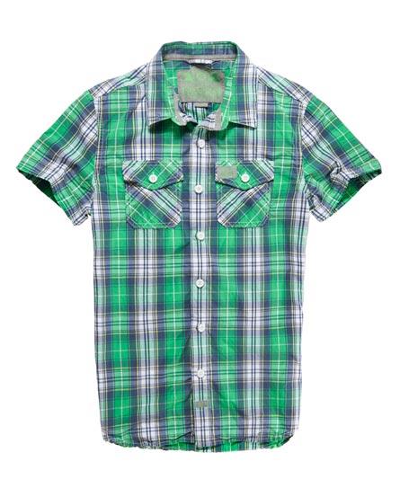Superdry Washbasket Check Shirt Green