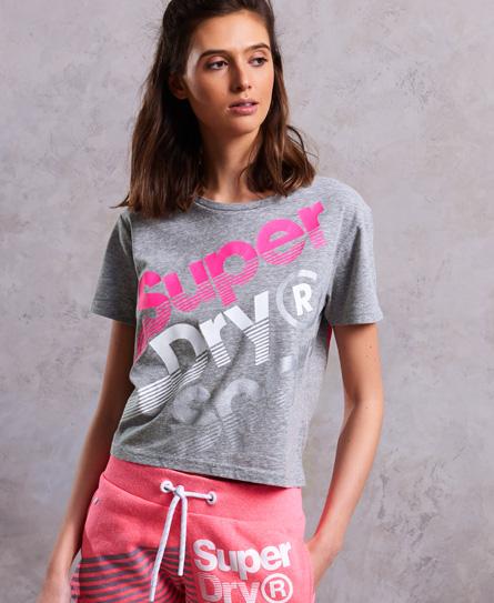 Kurzes Hyper Sport Label T-Shirt