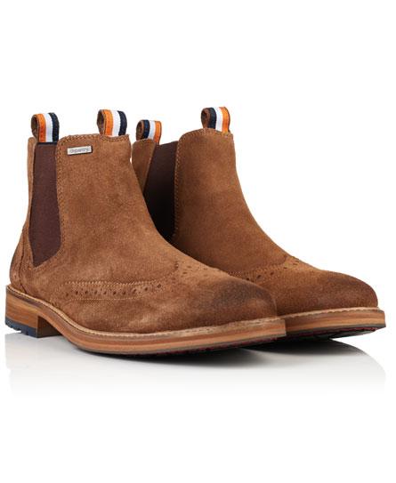 Superdry Brad Brogue Chelsea Boots