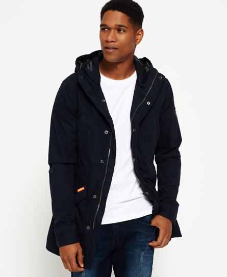 midnight Superdry Classic Rookie Military Parka Coat