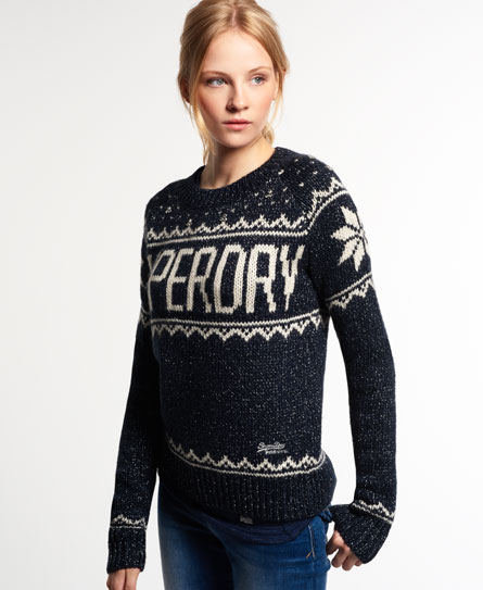 superdry pull en tricot bashful maille pour femme. Black Bedroom Furniture Sets. Home Design Ideas