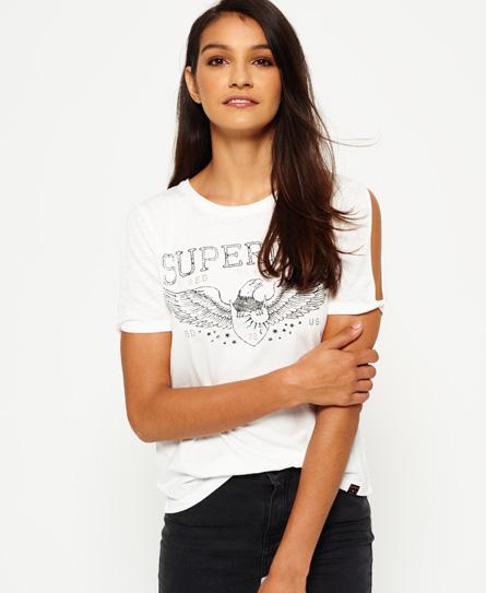 Midwest T-Shirt mit Ärmeleinschnitten