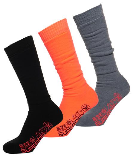 Superdry Pack de tres pares de calcetines de nieve