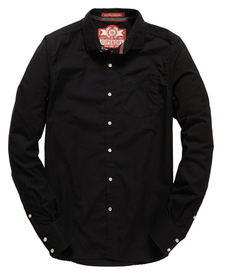 Superdry Cut Away Collar Shirt Black