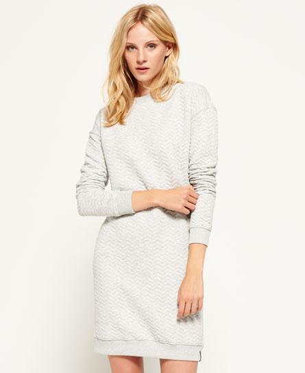 grey marl Superdry Gestepptes Nordic Kleid
