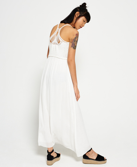Superdry Isla Scoop Crochet Maxi Dress