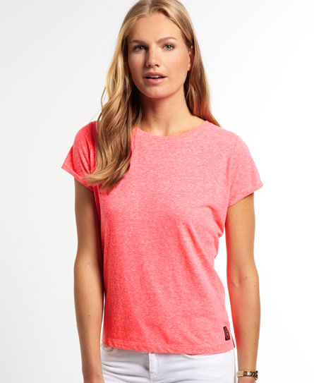 rugged fluro coral Superdry Super Sewn Rugged Lace T-Shirt