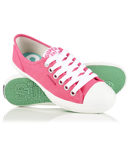 fluro pink canvas Superdry Low Pro Sneakers
