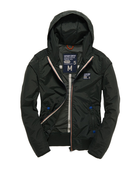 Mens - Outdoor Hooded Bomber in Nettle | Superdry
