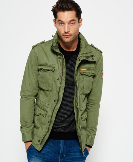 superdry rookie military jacket men 39 s jackets. Black Bedroom Furniture Sets. Home Design Ideas