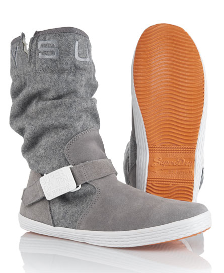 Superdry Slouch Mid Boots Grey