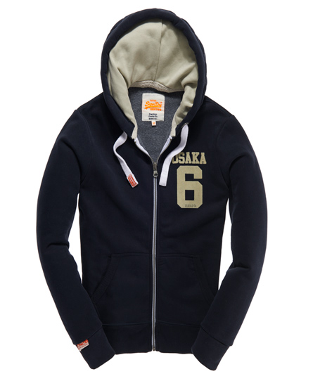 Superdry Osaka 6 Quilted Hoodie Navy