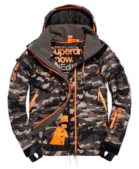 black ice camo Superdry Ultimate Snow Service Jacket