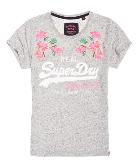 T-Shirt mit Vintage-Logo und Stickerei Superdry PNSeBrvil4