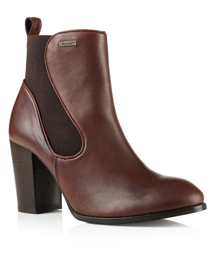 brown leather Superdry Fleur Leather Chelsea Boots