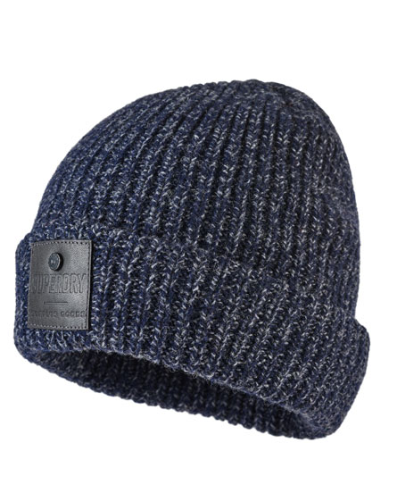navy twist Superdry Surplus Downtown Beanie