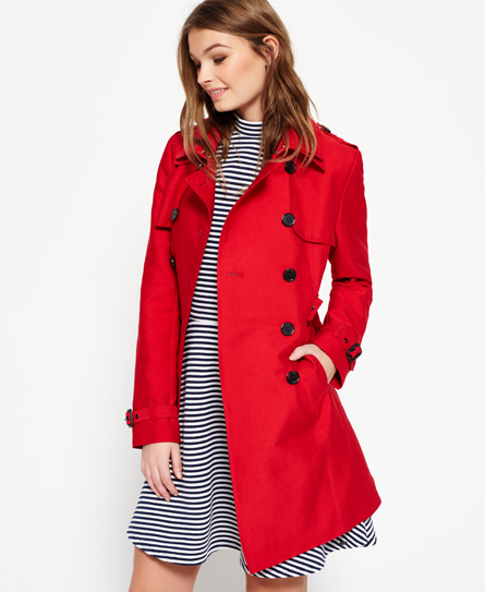 Superdry Belle Trench Coat - Women's Jackets & Coats