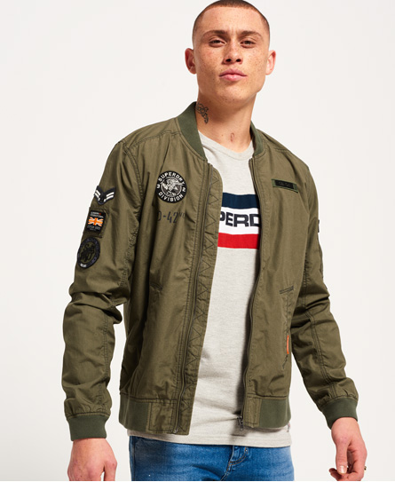 Rookie Aviator Patched Bomber Jacket by Superdry