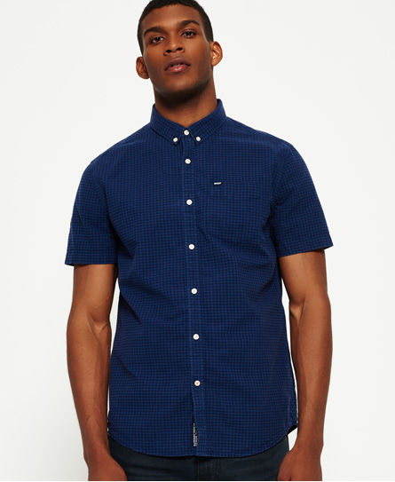 midnight gingham Superdry Ultimate City oxford-skjorte