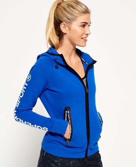 superdry gym tech kapuzenjacke damen hoodies. Black Bedroom Furniture Sets. Home Design Ideas