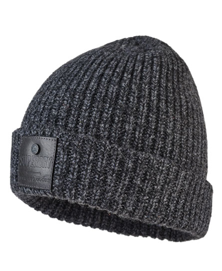 charcoal twist Superdry Surplus Downtown Beanie