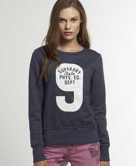 Superdry Softball Pocket Crew Navy