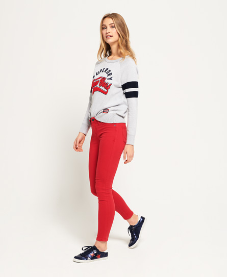 Superdry Alexia Jeggings | Bekleidung > Jeans > Jeggings | Rot | Material: baumwolle 85%|polyester 12%|elastan 3%| | Superdry