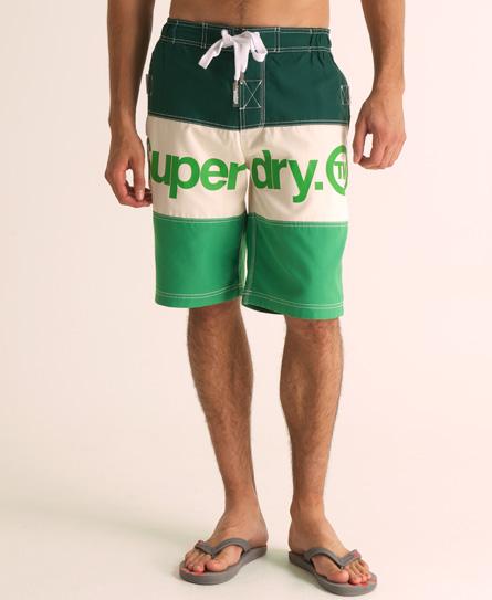 Superdry Tri Panel Boardshort Green