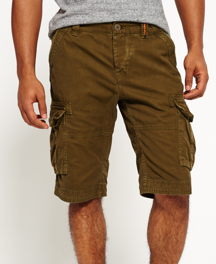truest khaki Superdry Core Cargo Lite Shorts