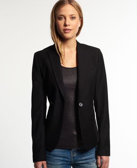 twilled black Superdry Superlative Jacket