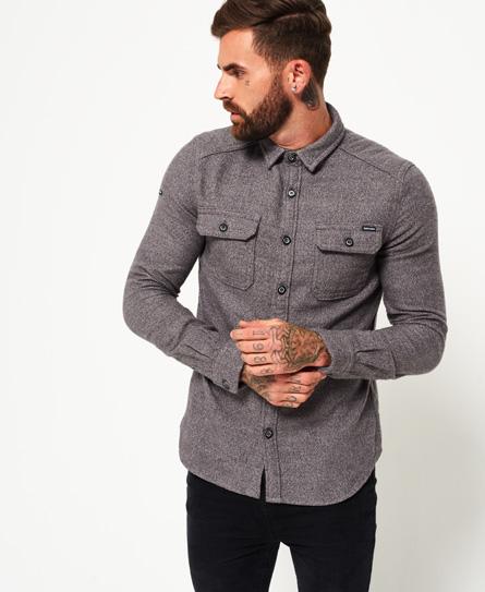 grey grit Superdry Langærmet skovmandsskjorte