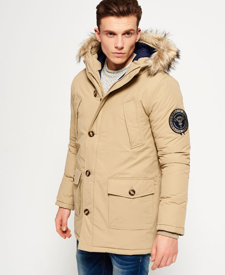 sand Superdry Everest Parka Jacket
