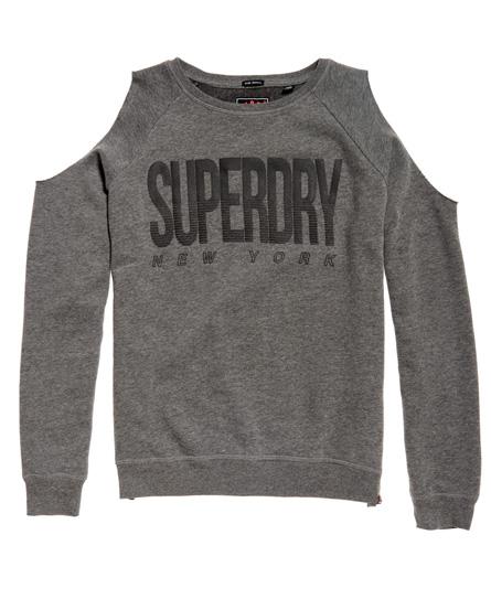 Superdry Pull ras du cou à épaules dénudées