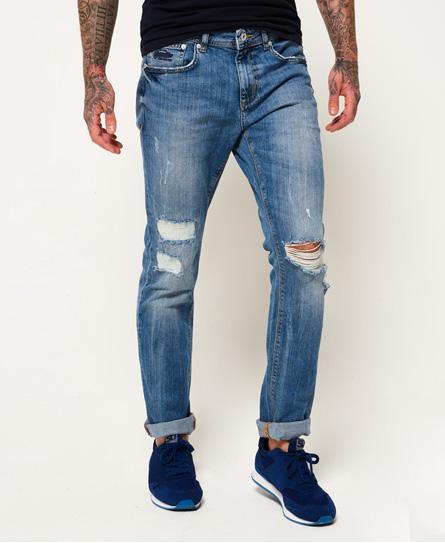 quays blau gerippt Superdry Slim Jeans