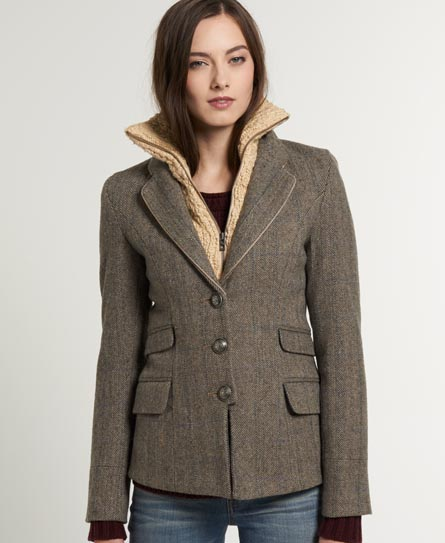 Superdry Hacking Blazer Brown