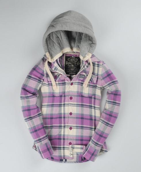 Superdry Lumberjack hoody Purple