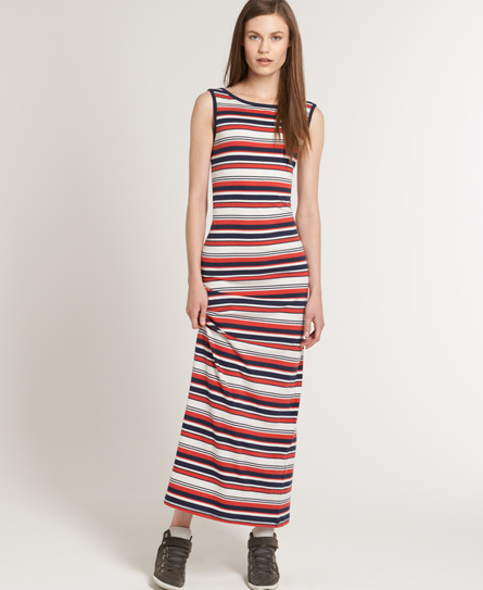 Superdry Scoop Back Maxi Dress Navy