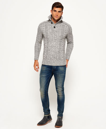Superdry Pull henley Mega Cable