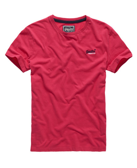 Mens - Embroidered T-shirt in Hot Pink | Superdry