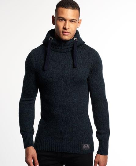 superdry gestricktes super sd hoodie herren hoodies. Black Bedroom Furniture Sets. Home Design Ideas