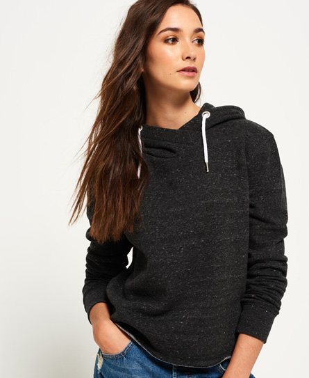 charcoal jaspe Superdry Orange Label Luxe Edition Cropped Hoodie