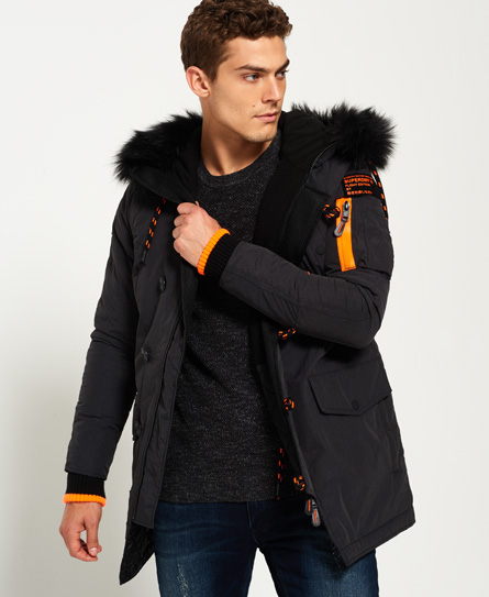 Mens - SD-3 Parka Jacket in Charcoal Marl | Superdry