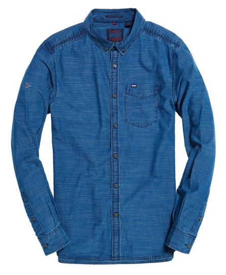 Indigo Oxford overhemd