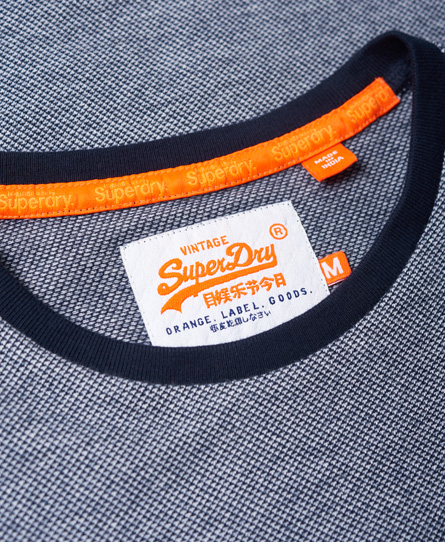 Superdry Orange Label Textured Long Sleeve Top