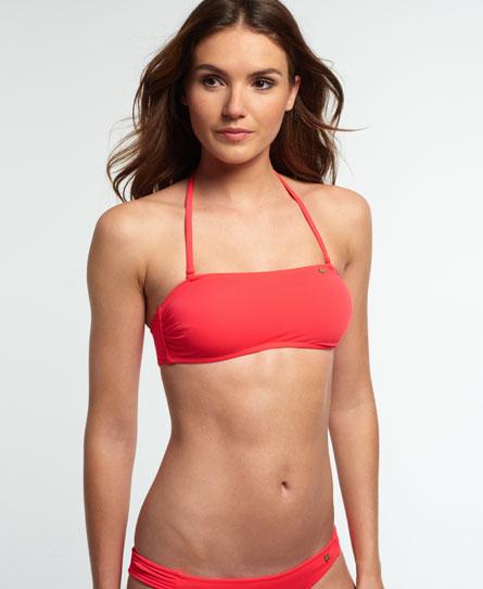 schockrot Superdry Santorini Bandeau Bikinitop