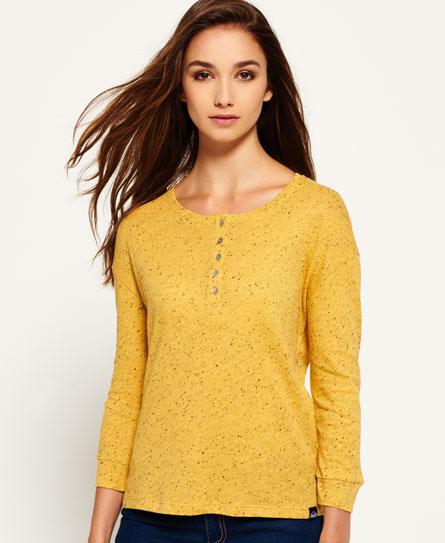 mustard nep Superdry Beatnik Neppy Grandad T-Shirt