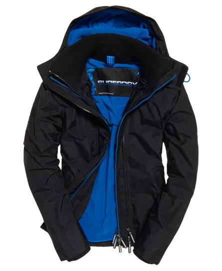 黑色/超級丹比藍 Superdry極度乾燥 Pop Zip Arctic SD-Windcheater 連帽防風夾克